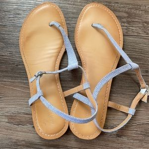 Old Navy Chambray Strappy Sandals